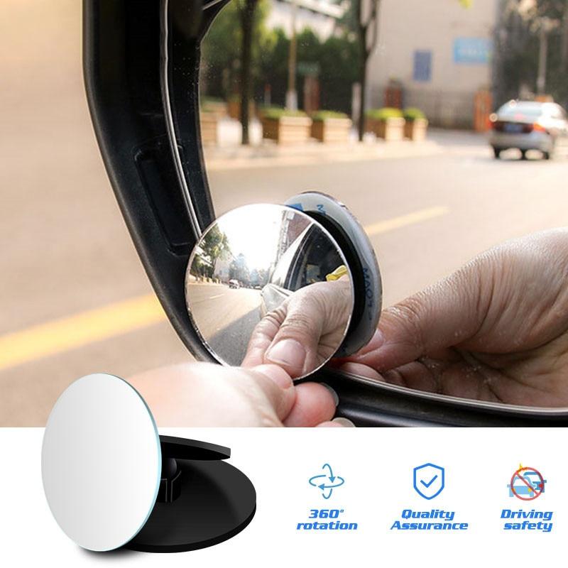 360 градусов HD Зеркало для слепых зон, Автомобильное зеркало заднего вида, маленькое круглое выпуклое зеркало, автомобильное большое поле, ши...