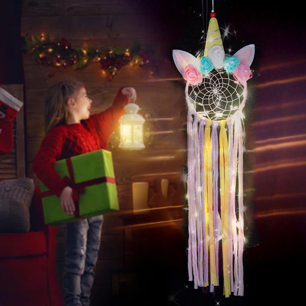 Dromenvanger ins estilo decorações de natal ornamento festa led luz decoração casamento artesanal cabeceira parede pendurado presente