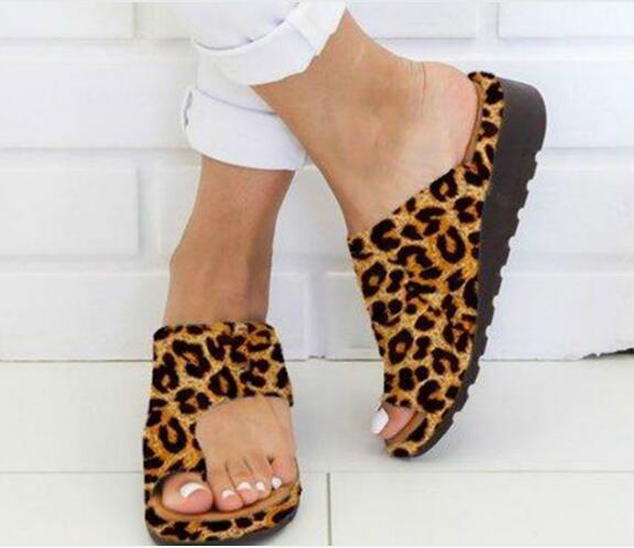 2021 pantofole da donna piatte Casual morbide alluce piede sandalo scarpe da donna piattaforma comoda ortopedico borsite correttore sandali Mujer
