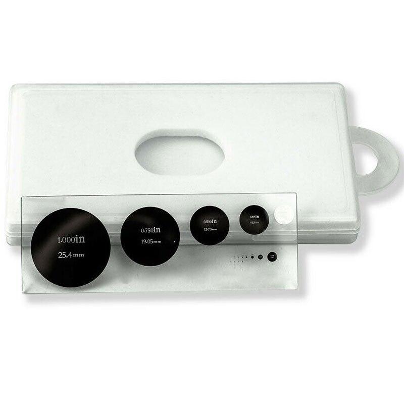 5 escalas roundel microscópio micrômetro calibração de vidro óptico slide estágio placa circular grafitules régua