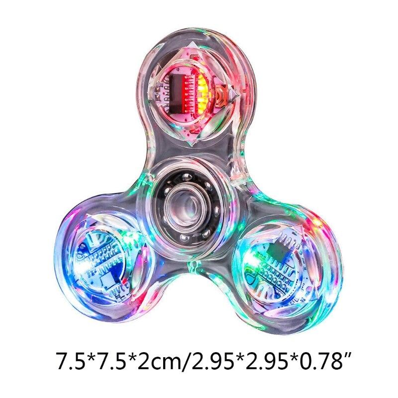 Transparent LED Light Fidget Spinner Hand Top Spinner EDC Spiner Finger Stress Relief Toys Kids Adult Toy enlarge