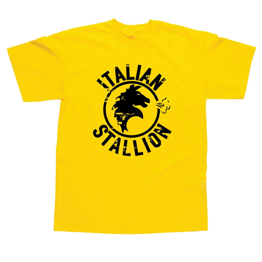 Stallion italiano inspirado en Rocky Balboa impreso camiseta-2 colores Regalo de Cumpleaños camiseta