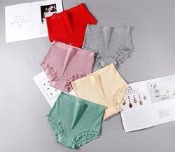 Calcinha para mulher lingerie sexy cuecas novas calcinha de renda de algodão feminino cintura alta tamanho grande dropshipping yztq168