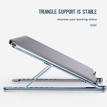 Besegad składany stojak na laptopa stojak na biurko ze stopu aluminium stojak na wspornik do Apple Macbook Air Pro uchwyt Samsung