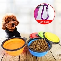 dog bowl portable silicone pet dog drinking bowl mutilcolor food water feeder bottle pet cat dog travel bottle cup pet supplies