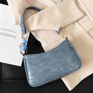 Stone Pattern PU Leather Crossbody Bags for Women 2021 Trend Designer Shoulder Bag Lady Women's Handbag Small Baguette Bag