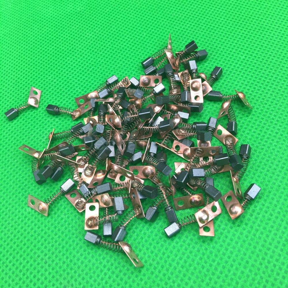 20 piezas eléctrico de carbono para Motor, recambio de pinceles para rectificadora Dental de la serie Saeyang, pieza de mano Micromotor de 3*3*4mm