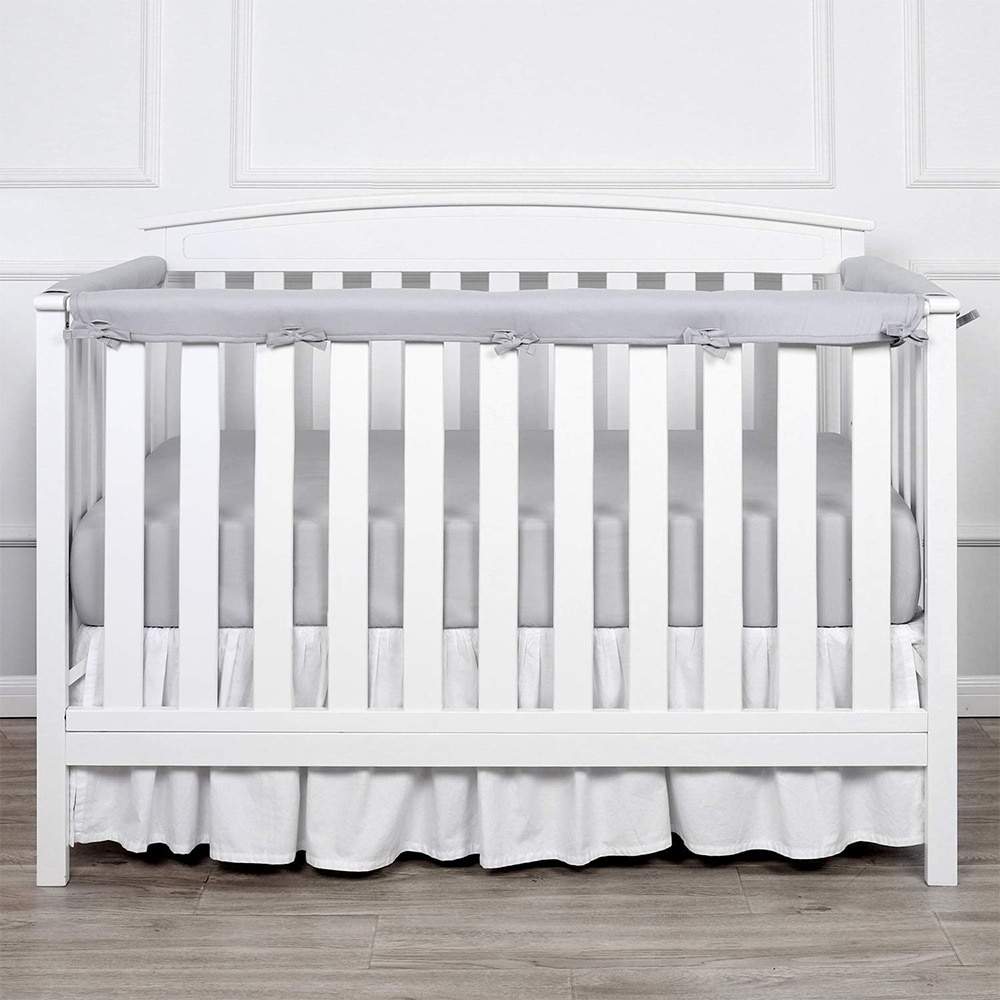 3 Teile/satz Einfarbig Neugeborenen Baby Bett Stoßfänger Krippe Schützen Bett Surround Kinderbett Anti-biss Leitplanke Baby Bett Zimmer decor BTN051