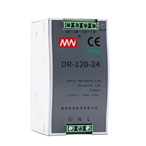 DR-120-24 / 12V DC 10A switching power supply 120W rail type small volume AC to DC