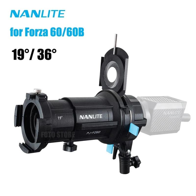 Nanlite PJ-FZ60 19 ° 36 ° الأضواء جبل مجموعة الإضاءة المعدلات الإسقاط جبل ل Nanlite Forza 60 60B 60 واط ضوء الملحقات