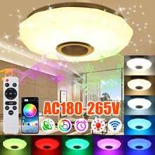 60W rvb LED plafonnier moderne éclairage à la maison Wifi APP bluetooth musique lumière chambre lampe Smart plafonnier + télécommande