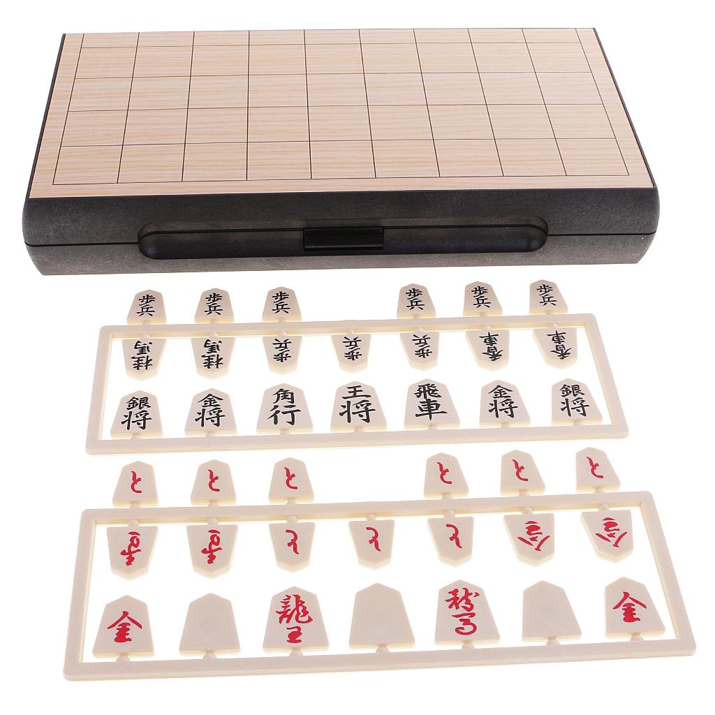 Juego de ajedrez japonés clásico Shogi con tablero de mesa de madera juego de mesa de viaje
