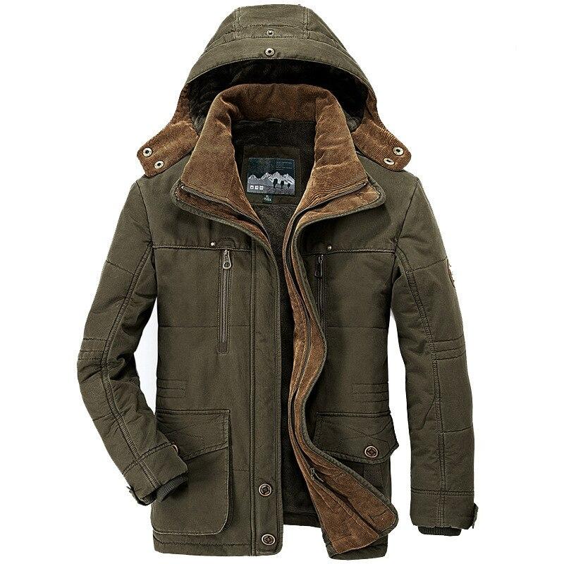 Мужское бархатное пальто с капюшоном, пальто оверсайз средней длины из овечьей шерсти с несколькими карманами и хлопковой подкладкой