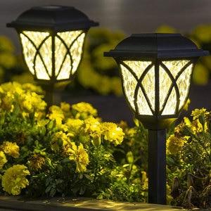 Outdoors Led Solar Lights Waterproof Garden Decor Landscape Lawn Lamp Path Lawn Lamps Street Lighting Solar Powered Path Lights