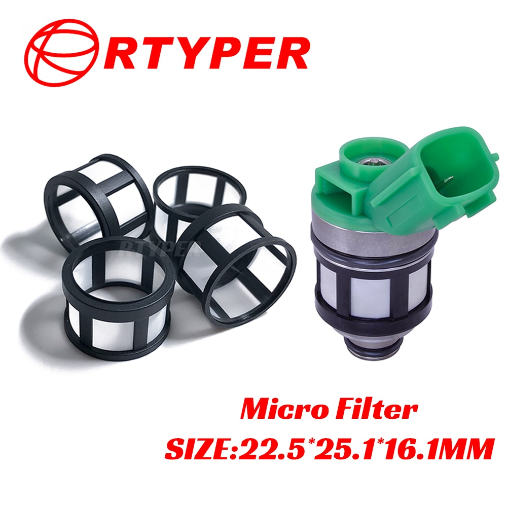 100 PCS Fuel Injector 16600-1S700 JSD4-2 Micro cesta Filtro kit 12006 Para NISSAN Frontier Xterra 2.4L