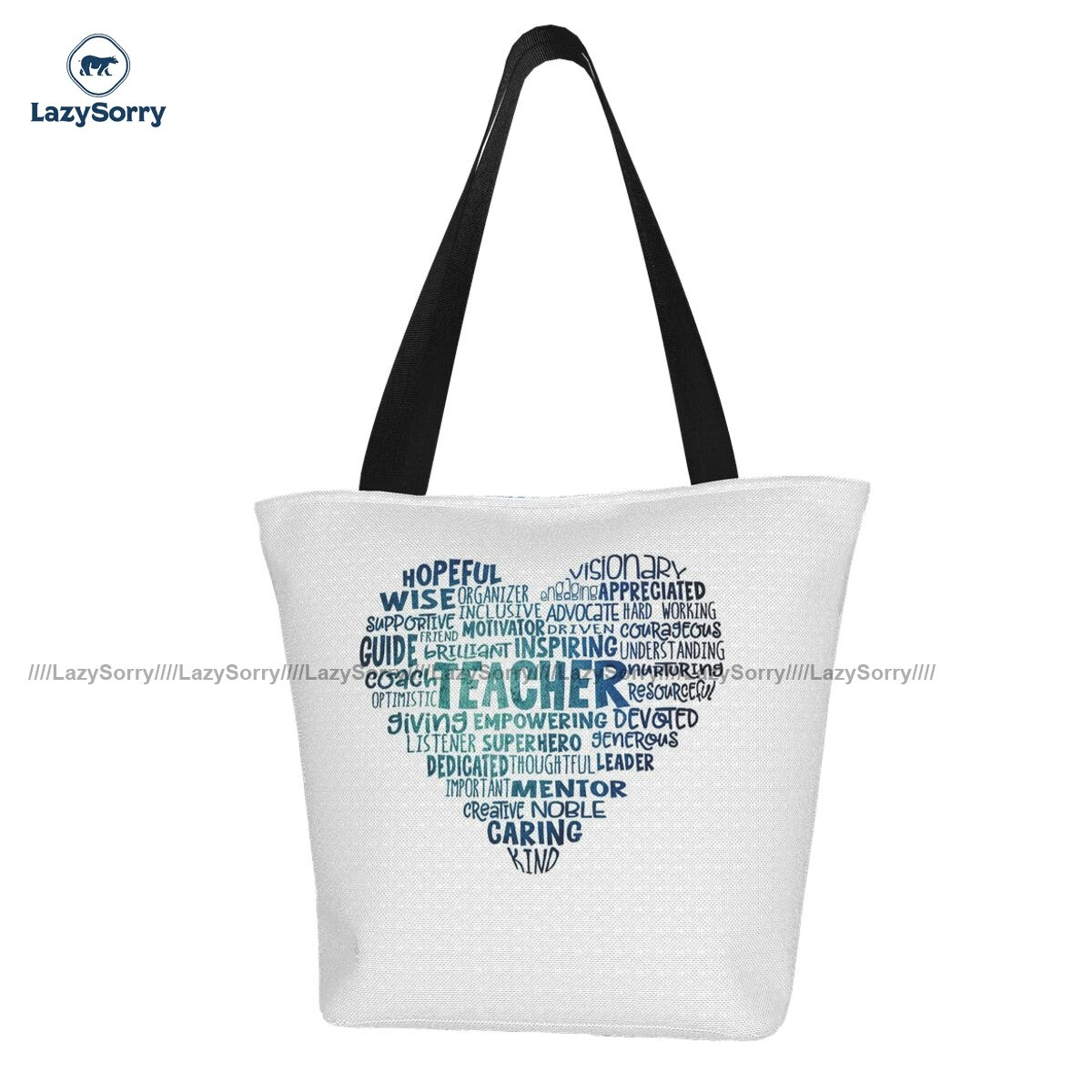 Teacher Shopping Bag Shopping Student Handbag Bulk Reusable Cloth Bags