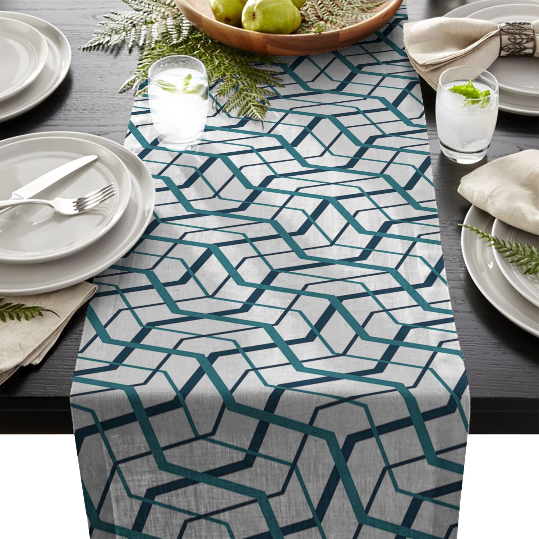 Несимметричный геометрический узор Настольная дорожка комод шарфы кухонная
