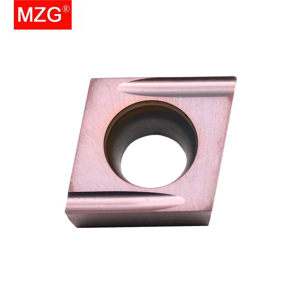MZG 10 قطعة CCGT 0602 02 ER-U ZN90 ZP15 التصنيع باستخدام الحاسب الآلي تحول القاطع معالجة سيرميت غرامة قطع من الفولاذ لديها جيدة إدراج كربيد الانتهاء