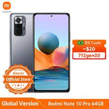 Global Version Xiaomi Redmi Note 10 Pro 64GB/128GB Smartphone 120Hz AMOLED Display 108MP Camera Snapdragon 732G 5020mAh 33W NFC