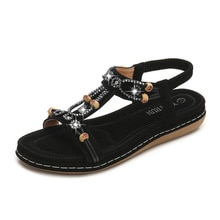 Women's Gladiator Sandals Shoes Ladies Flat Platform Shoes Bohemia Fashion Beach Summer Beach Women