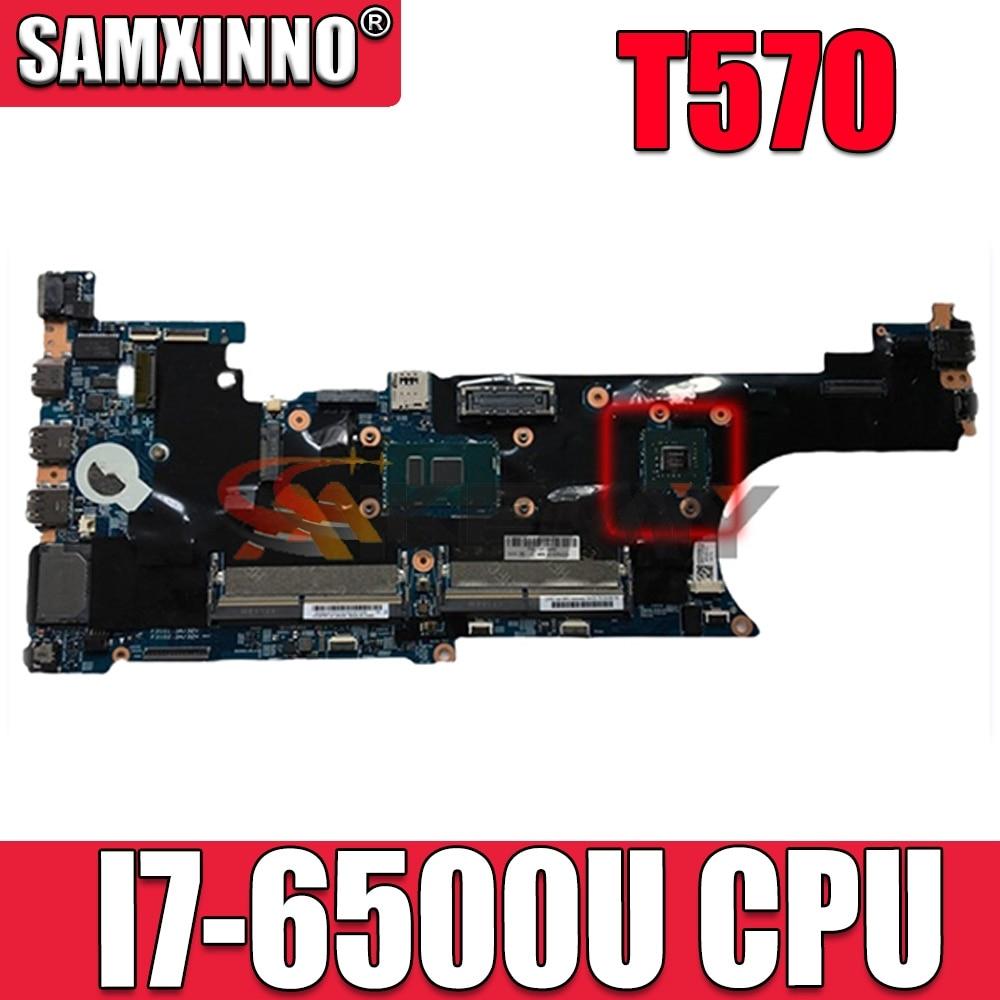 Akemy LTS-1 16820-1 448.0AB06.0011 اللوحة الرئيسية لينوفو ثينك باد T570 اللوحة الأم SR2EZ I7-6500U اختبار كامل