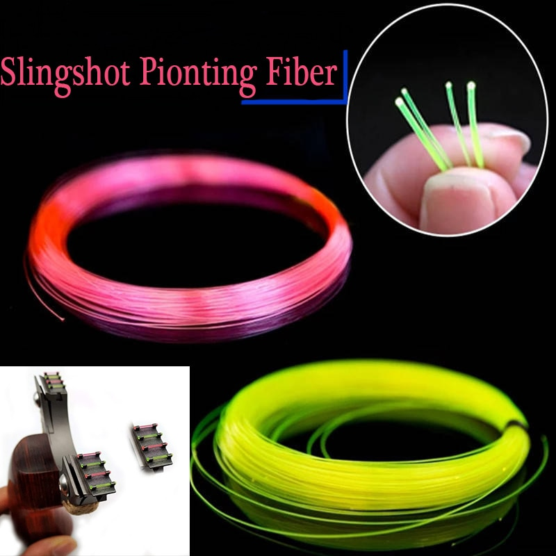 50cm 0,55mm-1mm de diámetro, puntas de repuesto de fibra óptica para arco compuesto, arco de arco, tirachinas, arco de fibra de caza