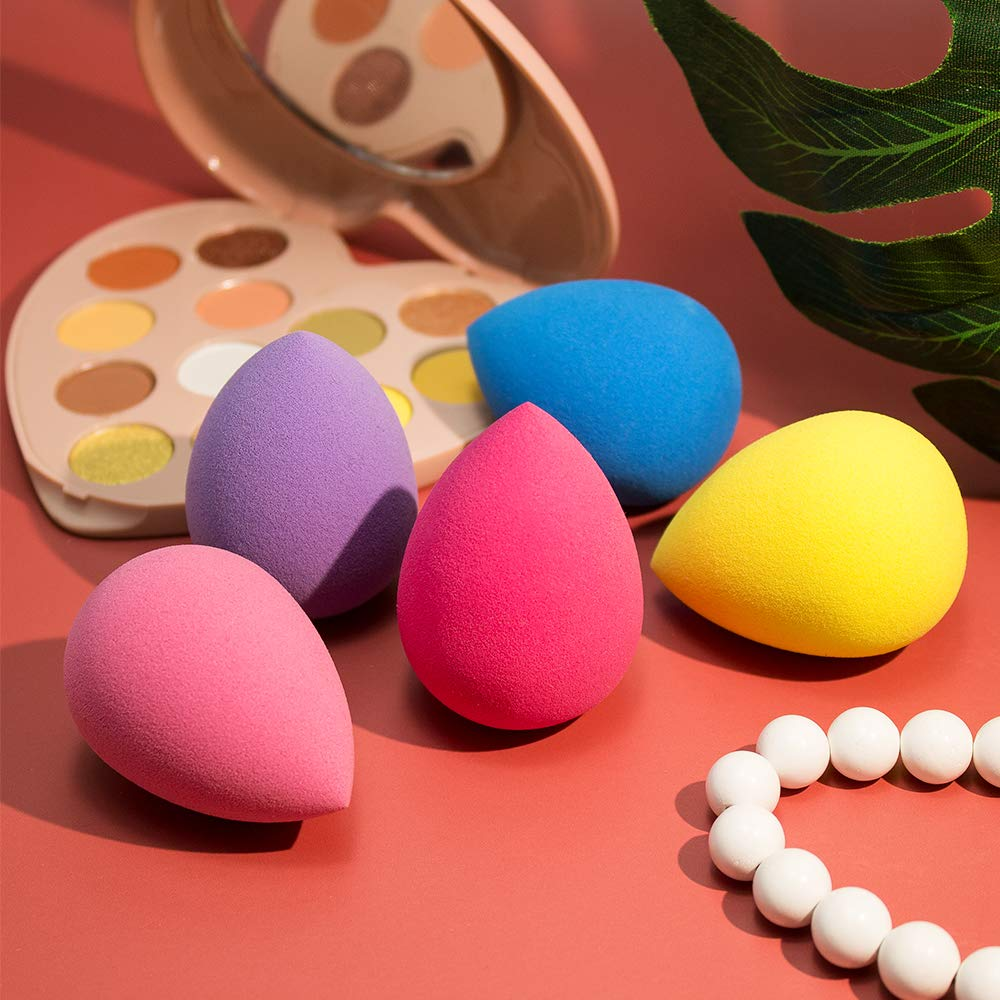 5 Pcs Cosmetic Puff Powder Puff Smooth Women's Makeup Foundation Sponge Beauty To Make Up Tools & Accessories Water-drop Shape недорого