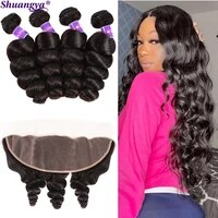 loose wave bundles with frontal 5x5 hd lace closure with bundles peruvian 100 remy human hair bundles with transparent lace