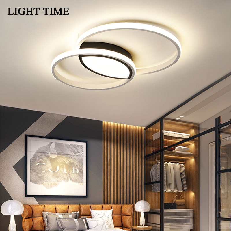 New Acrylic Modern Led Ceiling Light For Bedroom Living Dining room Kitchen Home Lighting Ceiling Lamp White Metal Body Fixtures macarons ceiling lamps rose colors metal lamp body acrylic lamp shade colorful post modern ceiling light led lighting fixture