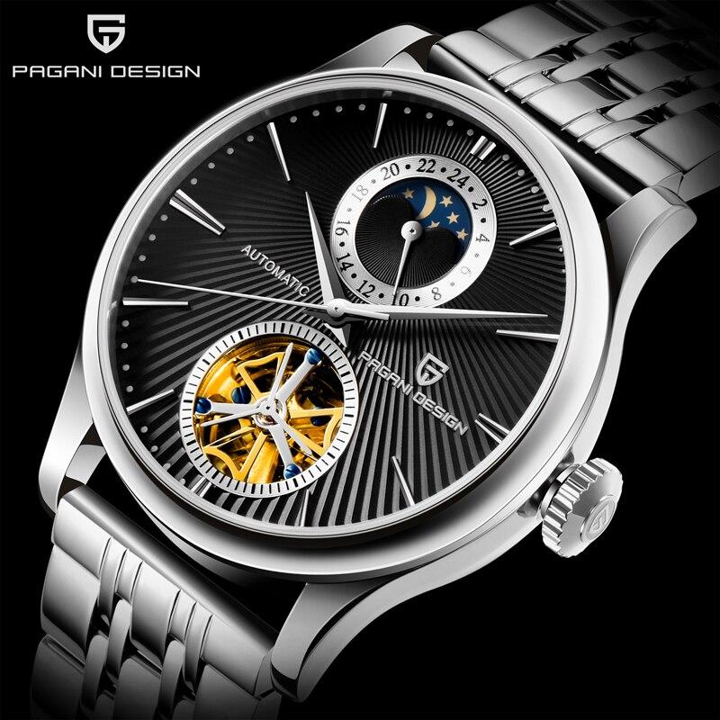 PAGANI, relojes mecánicos de diseño para hombre, reloj automático de lujo para hombre, reloj de negocios de acero impermeable, reloj Relogio Masculino 2020