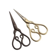 chinese 12 zodiac design golden retro scissors sewing tools stainless steel craft scissors for sewing cross stitch scissors yarn
