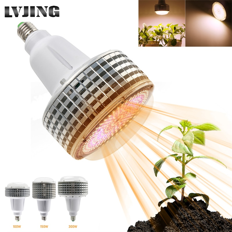 Full Spectrum 100W 150W 300W LED Grow Light E27 COB Phytolamp For Plants Warm White Lamp Growth Indoor Vegs Greenhouse Grow Tent fast grow indoor led grow light full spectrum 300w phyto growth lamp indoor phytolamp for plants flower veg greenhouse grow tent