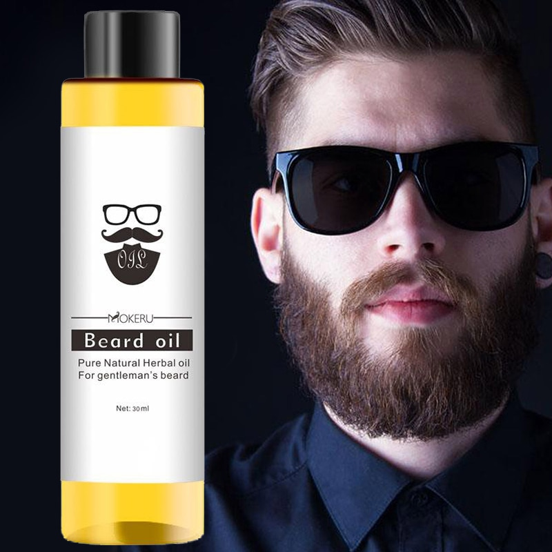 30ml Beard Oil Natural Organic Thick Anti-flaking Beard Care Oil Lasting Moisturizing Beauty Beard G