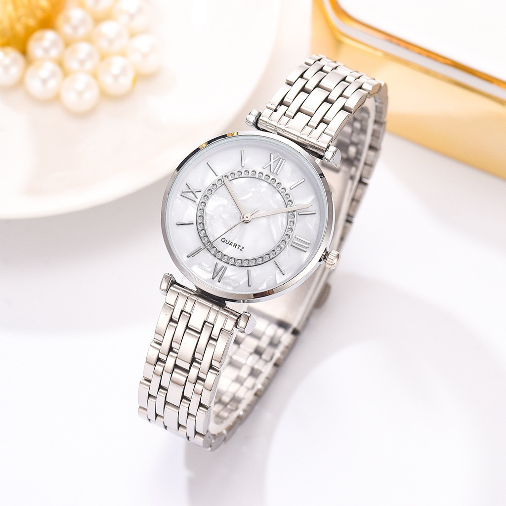 Luxury Crystal Women Bracelet Watches Top Brand Fashion Diamond Ladies Quartz Watch Steel Female Wri
