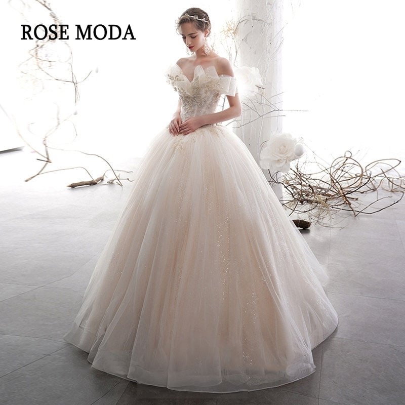 Rose Moda Glittering Quinceanera Dresses Princess Ball Gown Debutante Dresses Lace Up Back