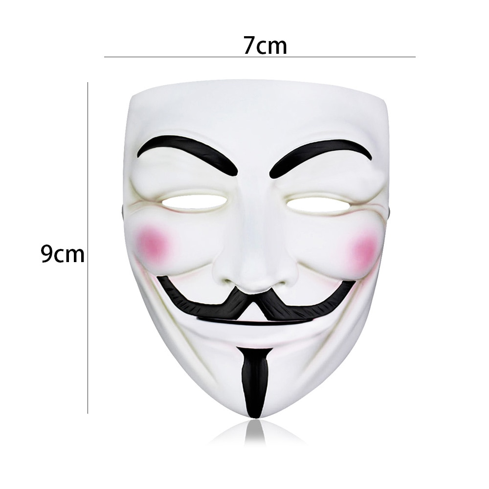 1pcs V For Vendetta Mask Halloween Masquerade Scary Party Supplies Cosplay Costume Accessory Props A