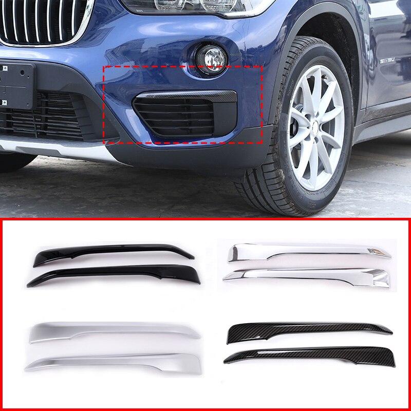 4 סגנון ABS קדמי ערפל אור רצועות לקצץ עבור BMW X1 F48 2016-2019 אביזרי רכב