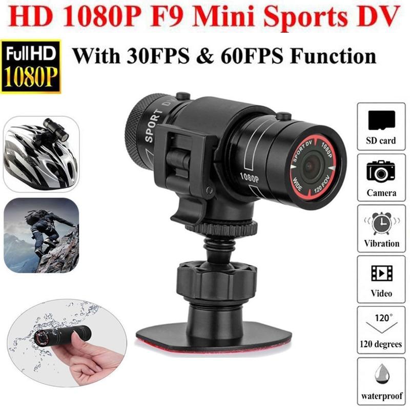 Bicycle Sports Camera Mountain Bike Motorcycle Helmet Action Mini Camera DV F9 Camcorder Full 1080p