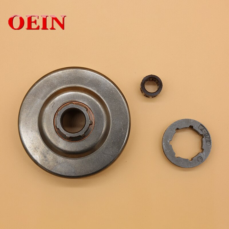 Clutch Drum Rim Sprocket 3/8-7T Needle Bearing Fit For Stihl  MS290 MS310 MS390 Gas Chainsaw Spare Tool Parts