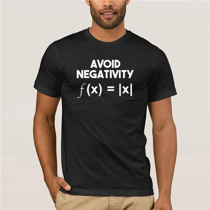 2020 hombres evitar la negatividad divertido problema de matemáticas ingeniero camiseta para hombre de manga corta de moda de verano camiseta