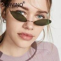 sorvino retro designer small cat eye sunglasses shades for women luxury brand trendy rave festival rimless oval sun glasses p303