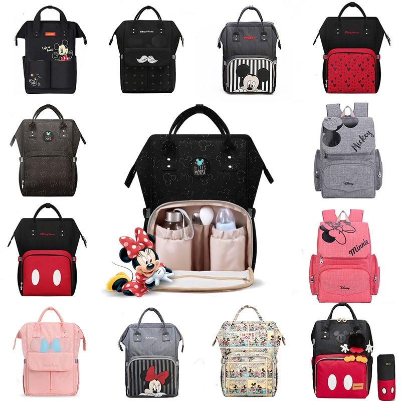 Disney USB Diaper Bag Backpack Mummy Maternity/Nappy Bag baby bag Baby Mickey Mouse Travel  Nursing Bag Baby Care Bag Wet bag disney mickey mouse diaper bag waterproof baby care mummy bag maternity backpack large nappy bag oxford cloth baby bag