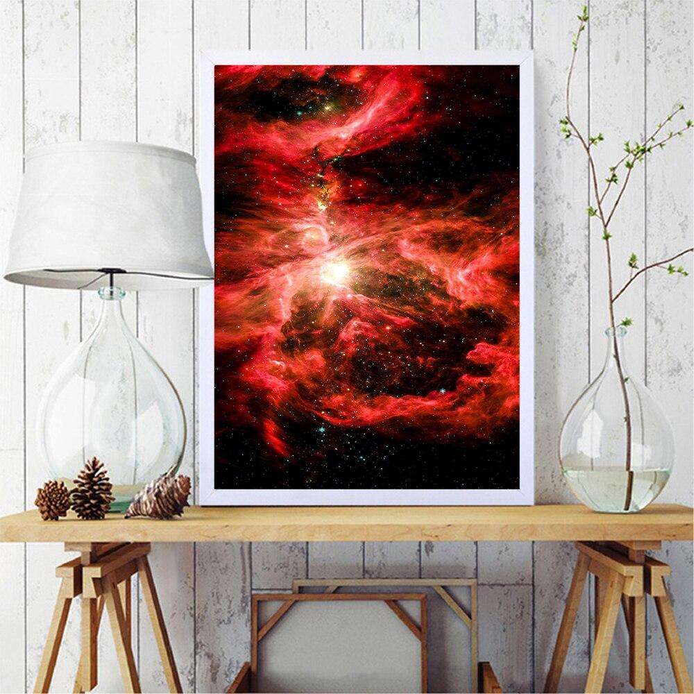 Impresiones de cielo estrellado nórdico, pintura minimalista, cuadro de guardería para decoración...