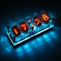 in 12 glow tube clock 4 bit integrated in12 glow tube clock seven color rgb led ds3231 nixie clock in 12b no tubes