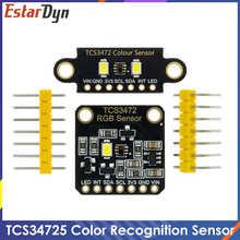 Инфракрасный фильтр TCS34725 с блокировкой краски RGB, с датчиком цвета, для самостоятельной сборки, Электронная печатная плата для Arduino, програм...