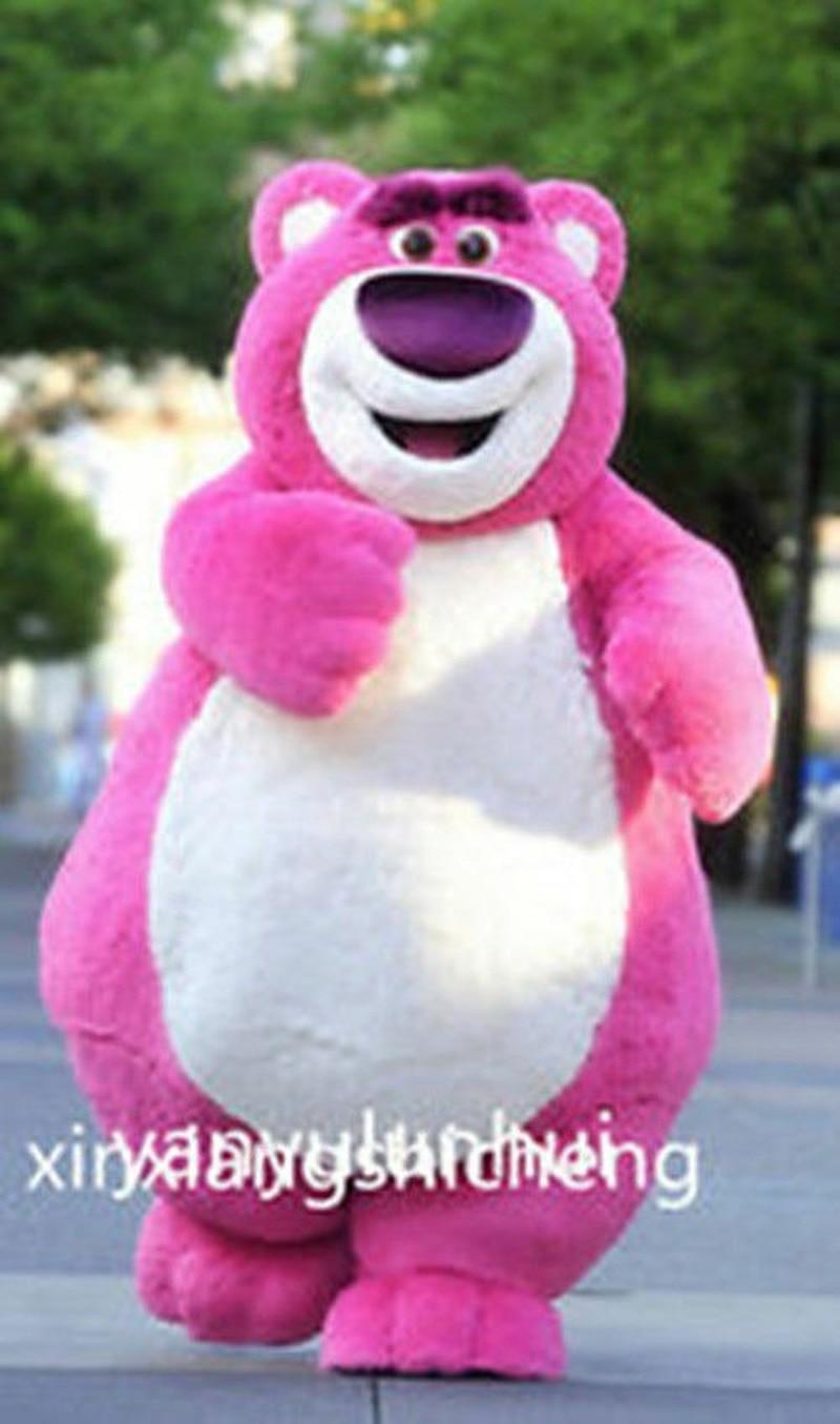 Disfraz de mascota oso Rosa bonito Cosplay talla adulta vestido de fantasía de dibujos animados adultos