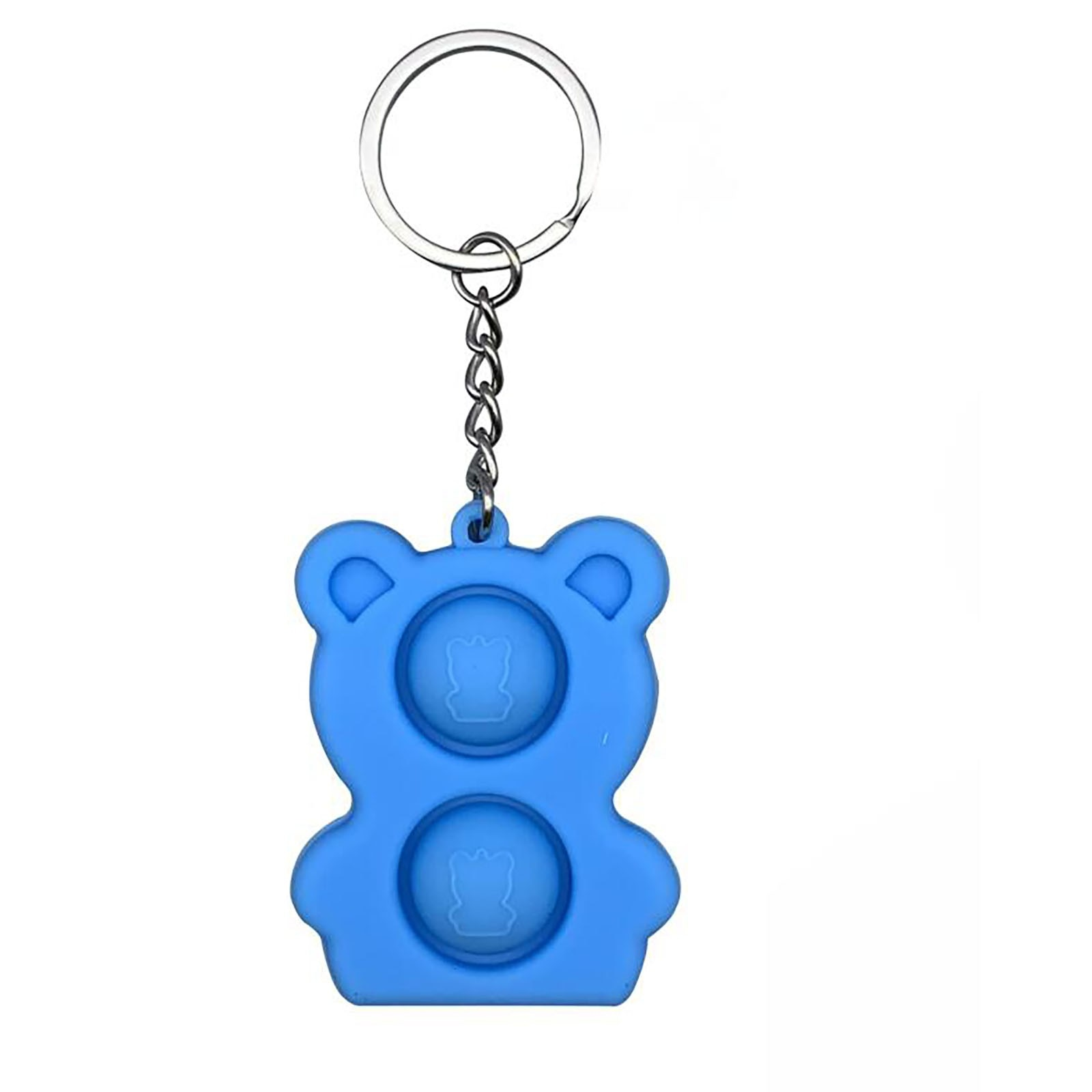 Pops It Vierkant Mini Popit Bear Keychain Push Bubble Silicone Sensory Toys Are Suitable For Relieving Stress Children Montessor