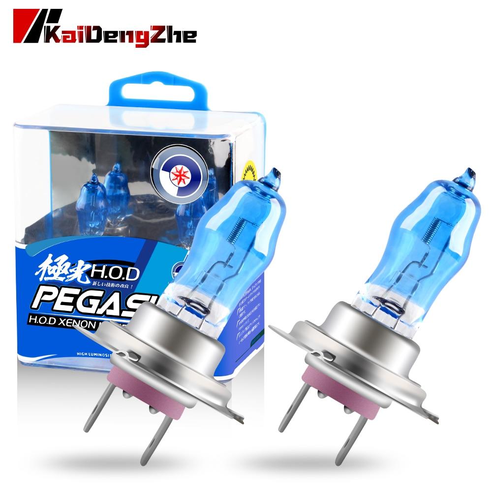 2pcs Super White Halogen Bulb H1 H3 H4 H7 H9 H11 9006 Auto Halogen Lamp Fog Lights 100W 12V 6000K Motorcycle Car Headlight Lamp