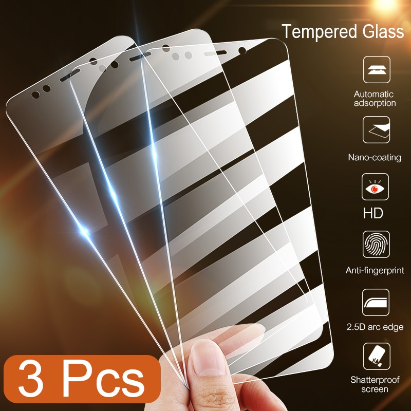 3pcs Full Cover Screen Protector Tempered Glass For Huawei Honor 10i 20 Pro 8X 9X 8A 9A 10X 9 8 10 l