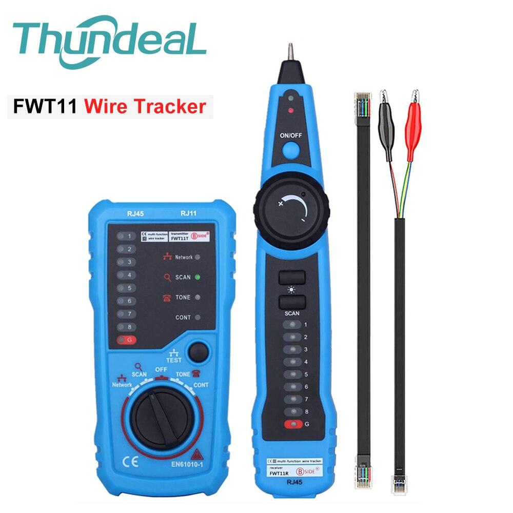 LAN FWT11 Tester LAN Network Cable Cat5 Cat6 RJ11 RJ45 Detector Telephone Wire Tracer Cable Tracker Toner Ethernet Line Finder